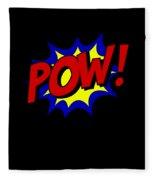 Superhero Pow Fleece Blanket