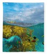 Surf Parrotfish, Damselfish And Basslet Fleece Blanket