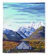 Susitna River Camp Fleece Blanket