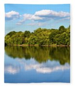 Susquehanna River Fleece Blanket