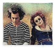 Sweeney Todd And Mrs. Lovett Fleece Blanket