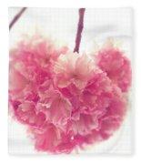 Sweet Heart Of Spring Fleece Blanket