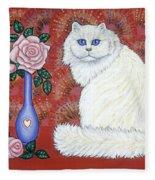 Sweetheart Cat Fleece Blanket