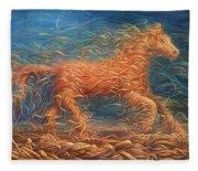 Swirly Horse 1 Fleece Blanket