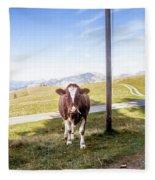 Swiss Cow Fleece Blanket