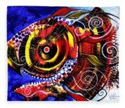 Swollen Red Cavity Fish Fleece Blanket