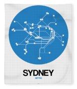 Sydney Blue Subway Map Fleece Blanket