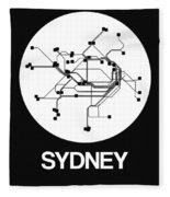 Sydney White Subway Map Fleece Blanket
