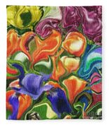 Symphony Of Color Fleece Blanket