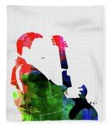 T-bone Walker Watercolor Fleece Blanket