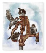 Talk Around The Watercooler Fleece Blanket