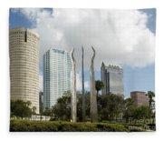 Tampa Skyline, 2007 Fleece Blanket