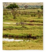 Tanzania Animal Landscape Fleece Blanket