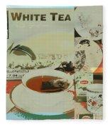 Tea Collage Poster Fleece Blanket