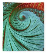 Teal And Red Fleece Blanket