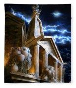 Temple Of Hercules In Kassel Fleece Blanket