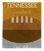 Tennessee Football Minimalist Retro Sports Poster Series 004 Fleece Blanket