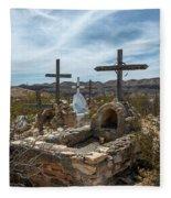 Terlingua Cemetery Fleece Blanket