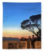 Terrazza Del Pincio Fleece Blanket