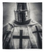 Teutonic Knight Black And White Fleece Blanket