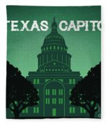 Texas Capitol Fleece Blanket