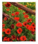 Texas Hill Country Wildflowers Fleece Blanket
