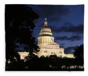 Texas State Capital Dawn Panorama Fleece Blanket