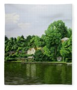 Thames At Reading Fleece Blanket