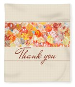 Thank You #3 Fleece Blanket