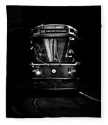 The 505 Dundas Streetcar Toronto Canada Fleece Blanket by Brian Carson