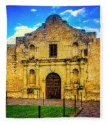 The Alamo Mission Fleece Blanket