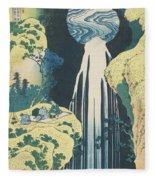 The Amida Waterfall In The Province Of Kiso  Fleece Blanket