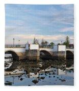 The Antique Bridge Of Tavira. Portugal Fleece Blanket