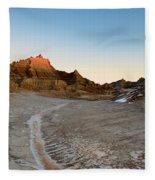 The Badlands And A Sunrise Fleece Blanket