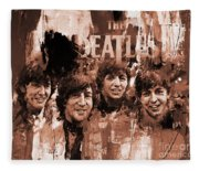 The Beatles Art  Fleece Blanket