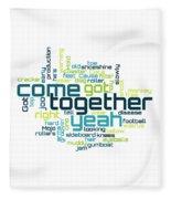 The Beatles - Come Together Lyrical Cloud Fleece Blanket