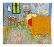 The Bedroom At Arles - Digital Remastered Edition Fleece Blanket