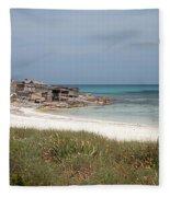 The Boathouse And The Beach Fleece Blanket
