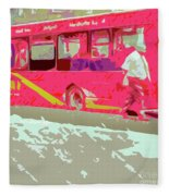The Bus Fleece Blanket