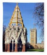The Buxton Memorial Fountain London Fleece Blanket