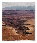 The Canyon Floor Below - 2 Fleece Blanket