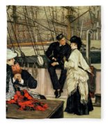 The Captain And The Mate, 1873 Fleece Blanket