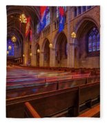 The Chapel At Princeton University  Fleece Blanket by Susan Candelario