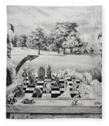 The Chess Game Fleece Blanket