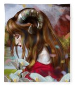 The Choice Of Amalthea Fleece Blanket