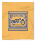 The Classic Thunderbird Motorcycle Fleece Blanket