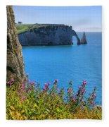 The Cliffs Of Etretat Fleece Blanket