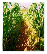 The Corn Maze #2 Fleece Blanket
