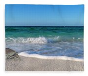 The Crab And The Sea Fleece Blanket