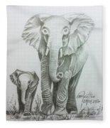 The Elephant Fleece Blanket